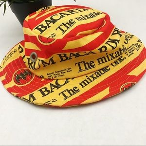 Vintage Bacardi all over print hype bucket hat